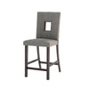 Bistro Fabric Counter Height Dining Chairs, Set of 2