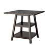 "Cappuccino 36"" Counter Height Dining Table with Shelves"