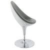 Modern Bonded Leather Ellipse Chair - *CLEARANCE*