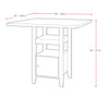 Bistro Counter Height Dining Set with Cabinet, 5pc