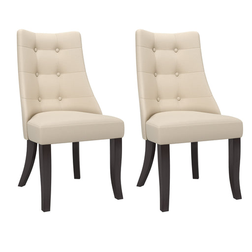 "Antonio Button Tufted Backrest Chairs Set of 2 - <body><p style=""color:#ED1C24"";>*CLEARANCE - Final Sale*</p></body>"