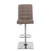 Square Tufted Fabric Adjustable Barstool, Set of 2