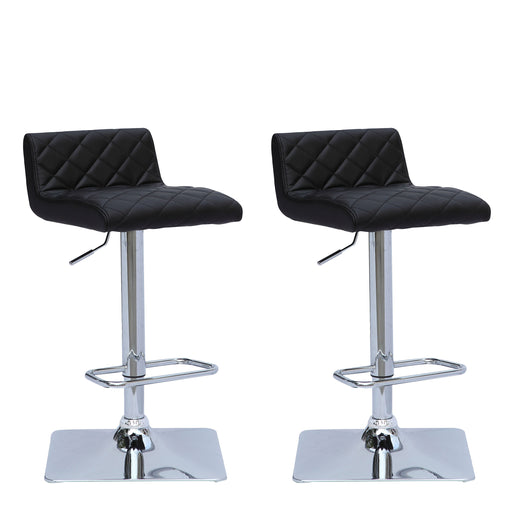 Adjustable Low Back Square Tufted Bar Stool Set of 2 - *CLEARANCE - Final Sale*