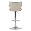 Adjustable Chrome Accented Bar Stool in Fabric, set of 2 *CLEARANCE*