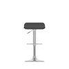 Adjustable Curved Low Back Bar Stool Set of 2