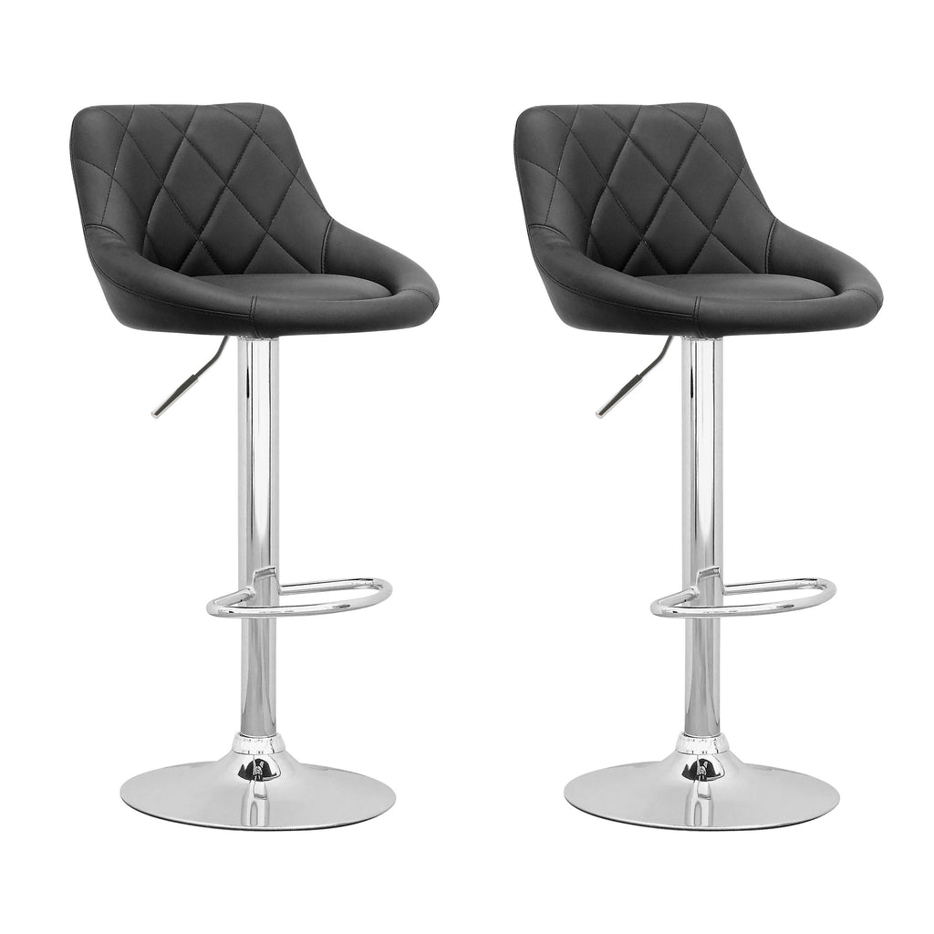 Adjustable Diamond Back Bar Stool Set of 2