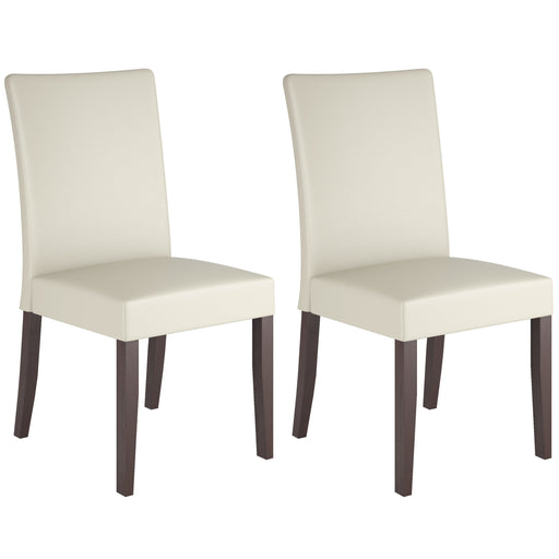 Atwood Cream Leatherette Dining Chairs, Set of 2