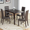 Atwood Dining Set, with Dark Brown Leatherette Seats 5pc