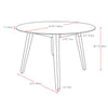 "Atwood Round Cappuccino Stained Dining Table - <body><p style=""color:#ED1C24"";>*CLEARANCE - Final Sale*</p></body>"