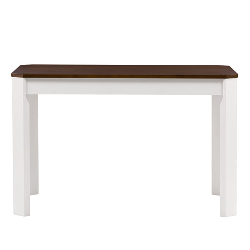 Solid Wood Dining Table with Angled Corners