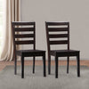 "Dillion Solid Wood Dining Chairs with Horizontal Slats, Set of 2 - <body><p style=""color:#ED1C24"";>*CLEARANCE - Final Sale*</p></body>"