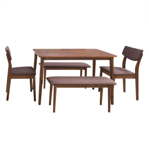 Branson Dining Set with Bench, 5pc