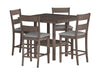 Tuscany Washed Grey Counter Height Dining Set 5pc