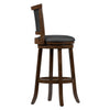Woodgrove Bar Height Wood Bar Stools with PU Leather Seat and Backrest, Set of 2