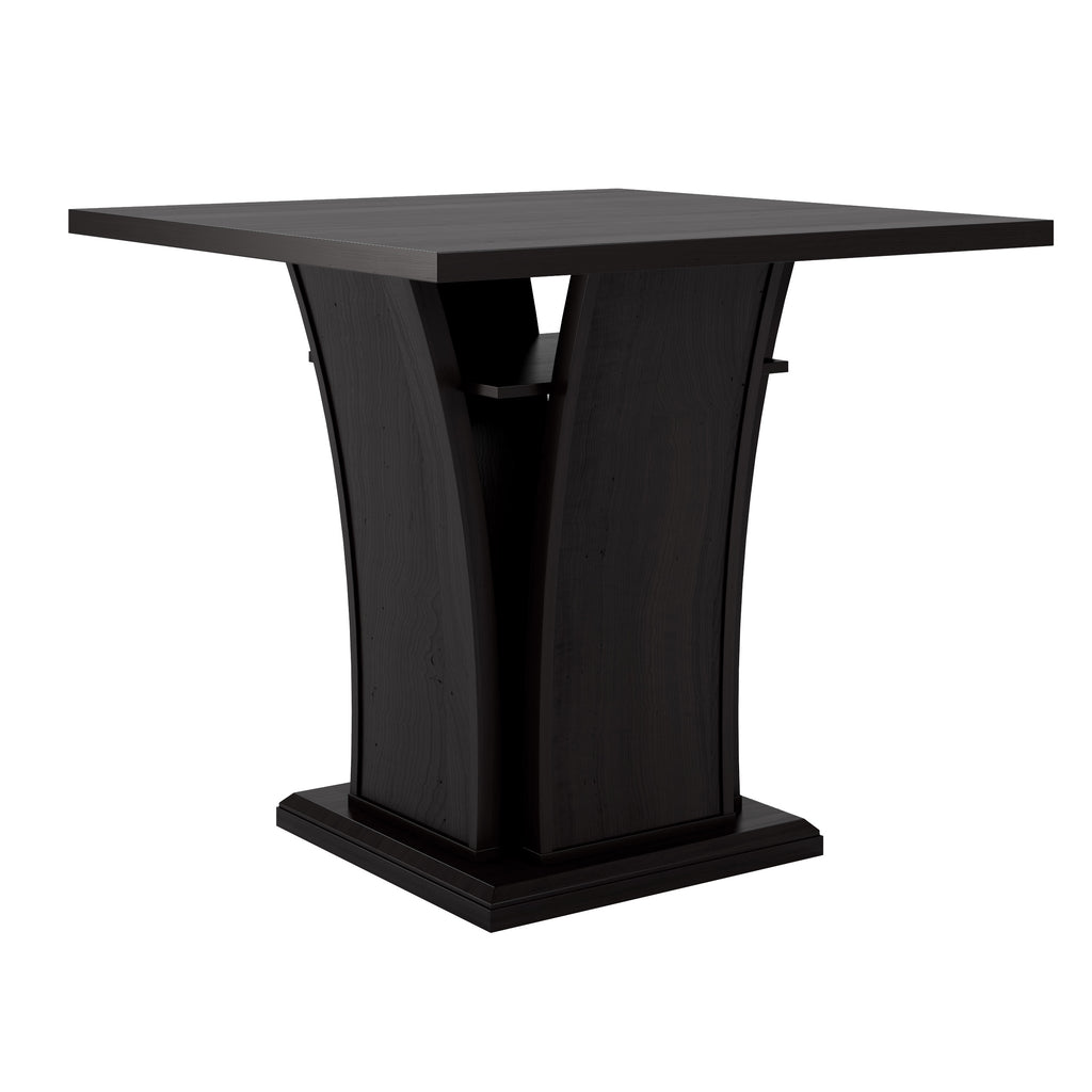 "Bistro 36"" Counter Height Black-Brown Dining Table with Curved Base *CLEARANCE*"