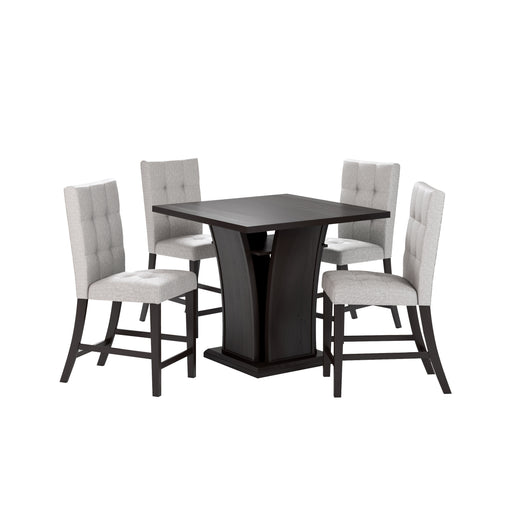 "Bistro 36"" Counter Height Dining Set - Tufted Fabric Chairs 5pc *CLEARANCE*"