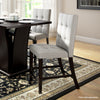 Bistro Counter Height Dining Chairs in Tufted Fabric, Set of 2 *CLEARANCE - Final Sale*