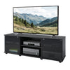 Fiji Black Wooden TV Stand, for TVs up to 75""