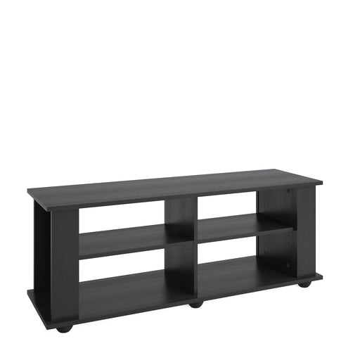 Fillmore Black Wooden TV Stand, for TVs up to 57""