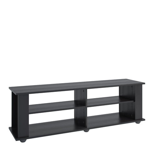 Fillmore Black Wooden TV Stand, for TVs up to 75""