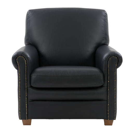 Genuine Leather Scroll Accent Arm Chair *CLEARANCE - Final Sale*