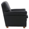 Genuine Leather Scroll Accent Arm Chair *CLEARANCE*