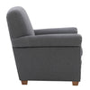 Ultra Soft Fabric Scroll Accent Arm Chair, Medium Grey *CLEARANCE*