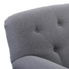 Ultra Soft Fabric Scroll Accent Arm Chair with Diamond Button Tufting, Medium Grey *CLEARANCE - Final Sale*