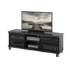 Black Wooden TV Stand, for TVs up to 68""
