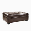 Antonio Leather Storage Ottoman