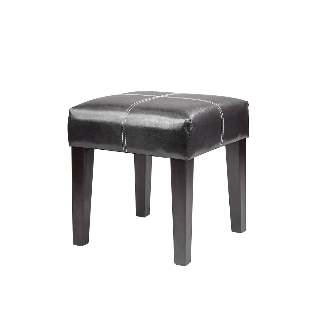 "Antonio 16"" Square Bench in Leather *CLEARANCE - Final Sale*"