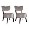 Atwood Dining Set, with Grey Velvet Fabric Chairs 5pc- *CLEARANCE*