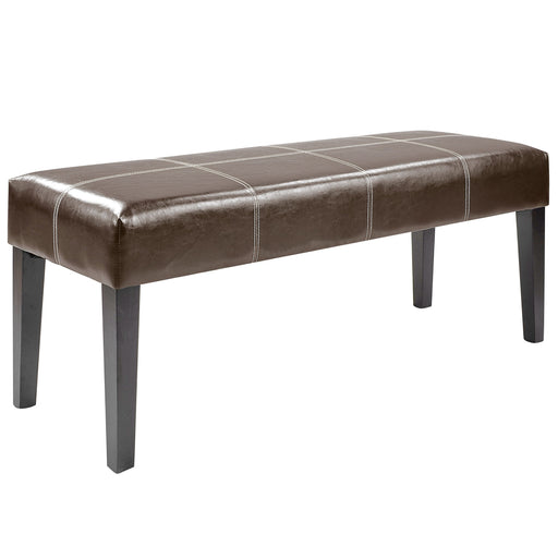 "47"" Bench in Dark Brown Leather"