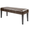 "Antonio 47"" Bench in Dark Brown Leather"