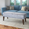 Antonio Velvet Like Fabric Upholstered Bench - *CLEARANCE*