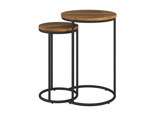 Wood Grain Nesting Tables