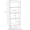 "Hawthorne 60"" Tall Bookcase in Black"
