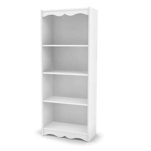 "Hawthorne 60"" Tall Bookcase in Frost White"