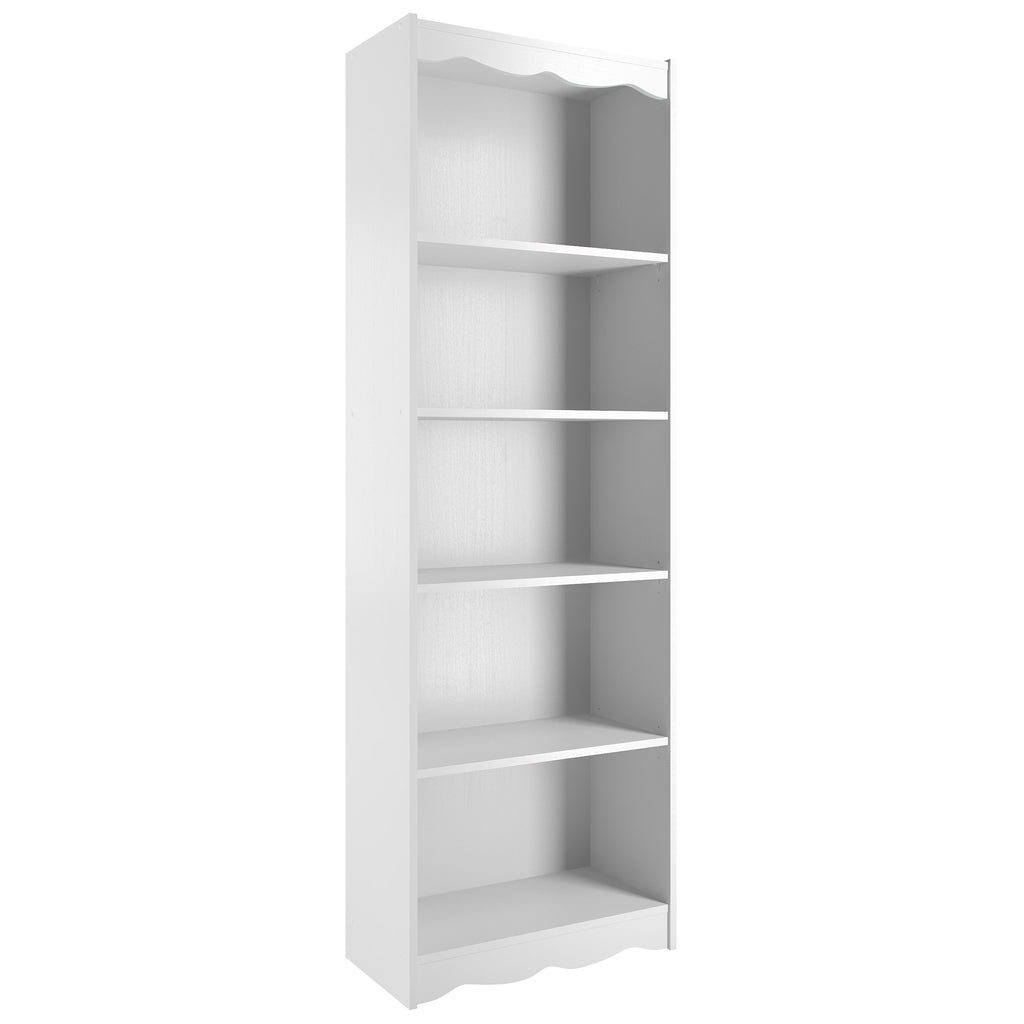 "Hawthorn 72"" Tall Bookcase in Frost White"