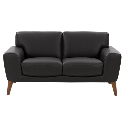 London Modern, High-Grade, Durable Faux Leather Low-Profile Loveseat