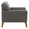 London Modern, High-Grade, Durable Faux Leather Low-Profile Chair