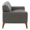 London Modern, High-Grade, Durable Faux Leather Low-Profile Sofa