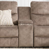 Syracuse Modular Console with Storage and Cup Holders for Sectional Sofa, Fabric *CLEARANCE - Final Sale*