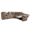Syracuse Curved Modular Reclining Sofa Sectional with Storage Consoles, Fabric 7pc *CLEARANCE*