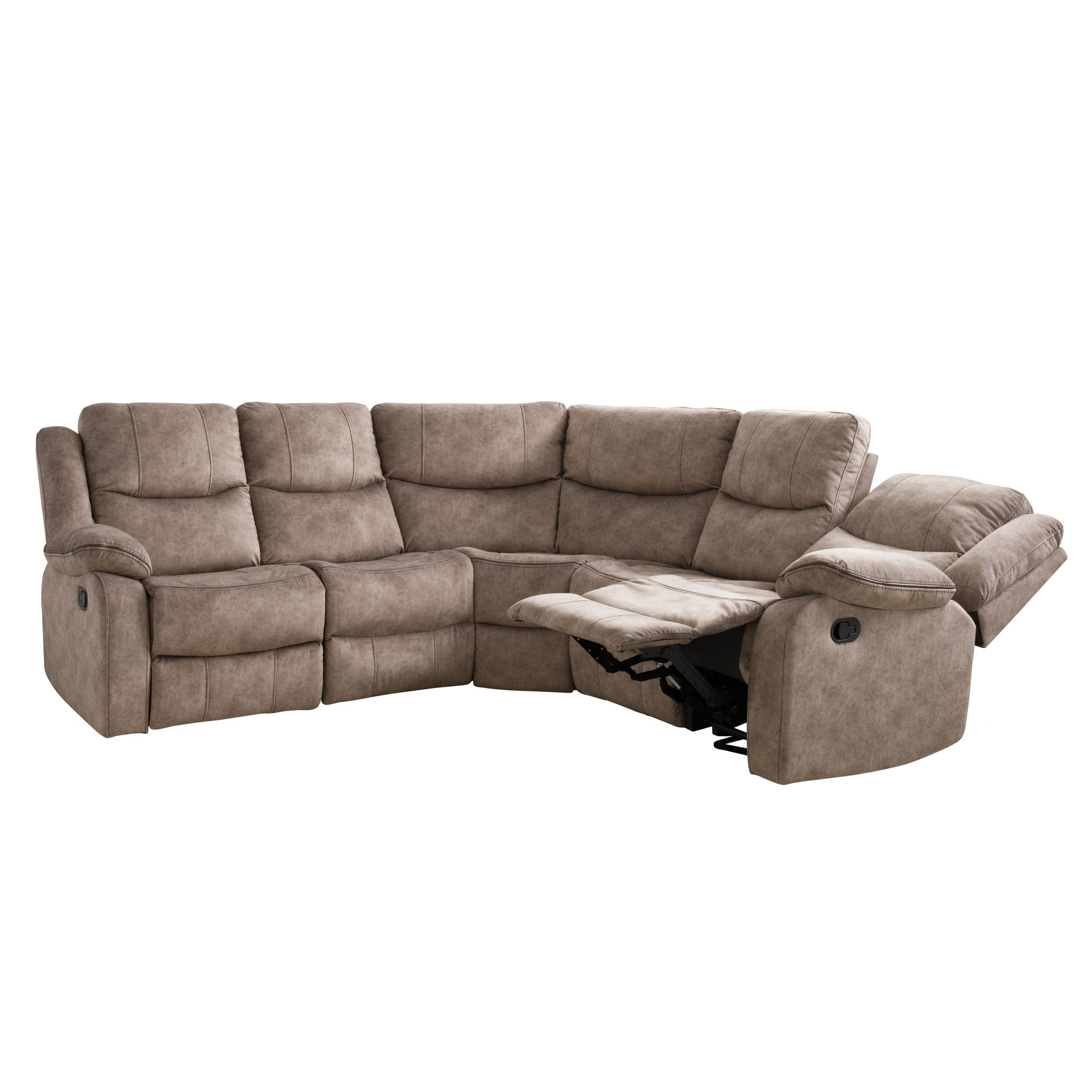 Picture of: Syracuse Curved Modular Reclining Sofa Sectional Fabric 5pc Clearanc Corliving Furniture