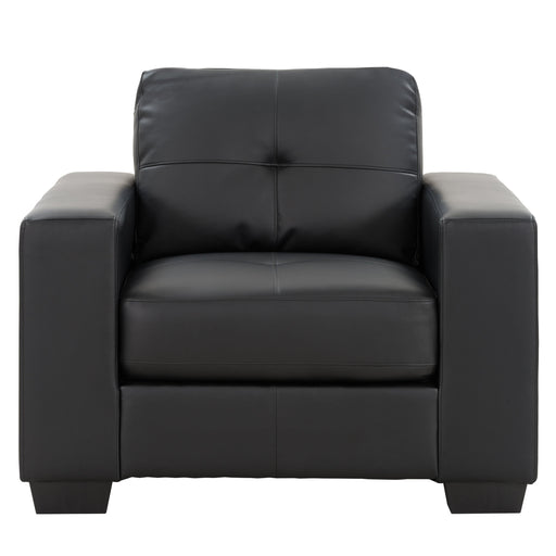 Club Tufted Bonded Leather Chair