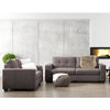 Club Contemporary Chenille Fabric Sofa Set 2pc