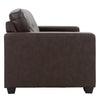 Club Tufted Bonded Leather Loveseat