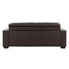 Club Tufted Bonded Leather Sofa