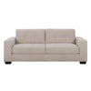 Club Contemporary Chenille Fabric Sofa Set 3pc